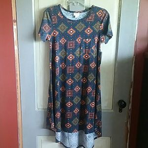NWT LulaRoe Carly Dress Aztec print High Low